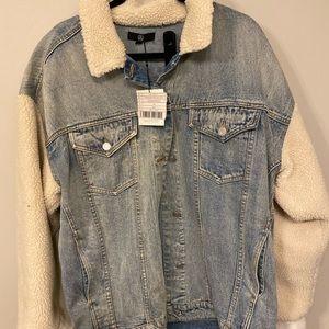 Borg style denim jacket